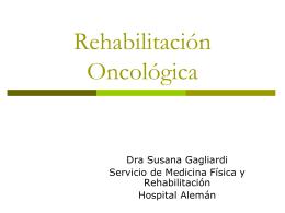 Rehabilitacion oncologica