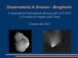 Conferenza sul meteorite caduto a Chelyabinsk (Russia) il 15/2/13