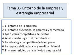 Tema 3. Entorno de la empresa y estrategia Emp