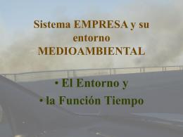 Sistema EMPRESA y su entorno MEDIOAMBIENTAL
