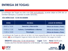 entrega de togas - UCV