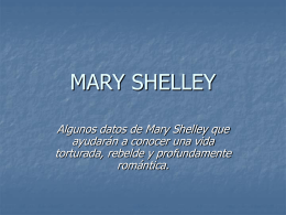 3. Mary Shelley.