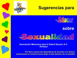 Sugerencias para Educar en Sexualidad Infantil