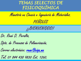 TEMAS SELECTOS DE FISICOQUÍMICA