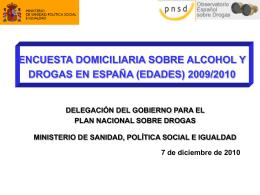 Edades 2009 10 - Drogas Extremadura