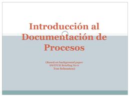 Procesos de documentacion - Documentación de Procesos