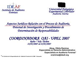 Aspectos jurídicos y su relación con el proceso de Auditoria