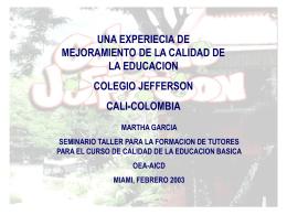 colegio jefferson cali-colombia contexto de la experiencia