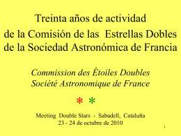 ETOILES DOUBLES - Observatori Astronòmic del Garraf