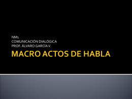MACRO ACTOS DE HABLA - Profe ÁLVARO GARCÍA Lenguaje y