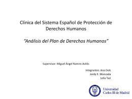 Clínica del Sistema Español de Protección de Derechos Humanos
