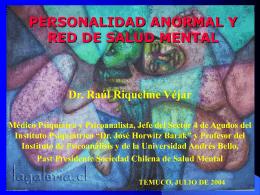 personalidad anormal y red de salud mental