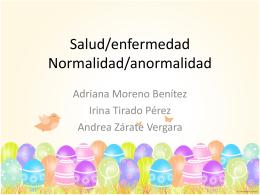 Normalidad/anormalidad