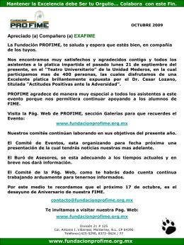 Octubre_2009 - Fundación PROFIME