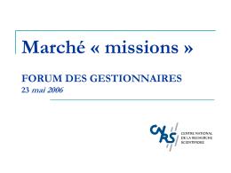 Gestion dématérialisée des missions : étude préalable
