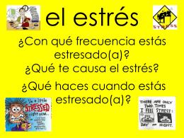 Qué te causa el estrés? - spanishwithmissholland