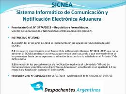 Ver: Resumen SICNEA-ISTA - Despachantes Argentinos