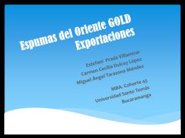 1_(P)Espumas del Oriente_Exportaciones