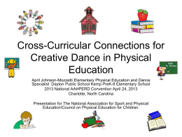Cross-Curricular Connections for Creative Dance in