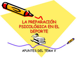 LA PREPARACIÓN PSICOLÓGICA EN EL DEPORTE