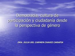 Democracia, cultura de participación y ciudadanía