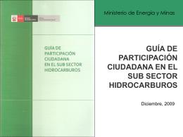 Participación Ciudadana en las actividades de Hidrocarburos