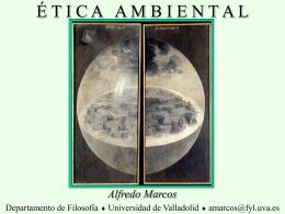 ÉTICA AMBIENTAL - Universidad de Valladolid