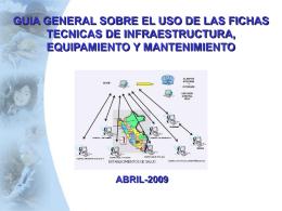 fichas tecnicas de infraestructura, equipamiento y mantenimiento