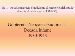 DÉCADA INFAME 1930-1943