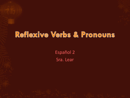 2.1 Reflexive verbs 102814