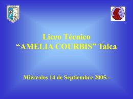 "Liceo Técnico ""AMELIA COURBIS"" Talca"