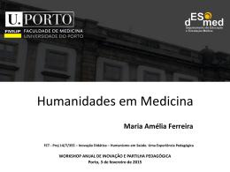 Apresentação de Maria Amélia Ferreira (FMUP)