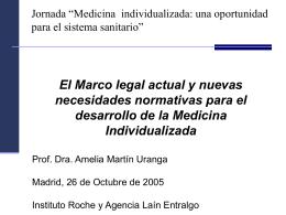 Medicina individualizada: una oportunidad para el