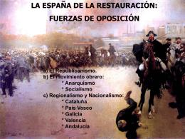 La oposición en la Restauración española