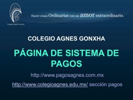 formato de pago - Colegio Agnes Gonxha
