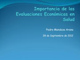 Evaluación Económica en Salud Conceptos Esenciales