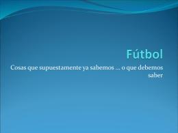 Fútbol en Internet - Internet, Deporte y Educación