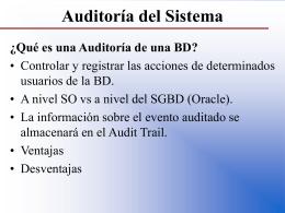 Auditoría del Sistema