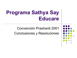 POWER CONVENCION DE PRASHANTI