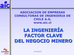 Título de la Presentación - Asociación de Ingenieros Consultores