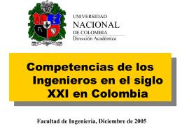 ComptenciasIngSigloXXI_UN - Facultad de Ingeniería de la