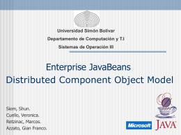 Enterprise JavaBeans - LDC - Universidad Simón Bolívar