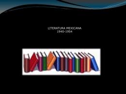 LITERATURA MEXICANA 1940-1954 - Sociología del México Actual