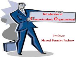 Introducción al Comportamiento Organizacional