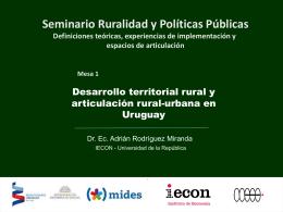 Presentación de Adrián Rodriguez - Ministerio de Desarrollo Social