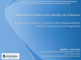 sub-director nacional de coordinacion fiscal con las provincias