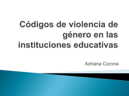 Códigos de violencia de género en las instituciones educativas