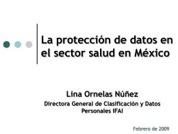 Mtra. Lina Ornelas Nuñez