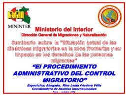 El procedimiento administrativo del control migratorio