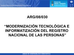 Modernización Registro Nacional de las Personas